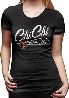 Women's 1526138700-scarface_Chichi_get_The_yayo_Hoodie_Dark Cool T-Shirt Black with Short Sleeve Gift Shirt