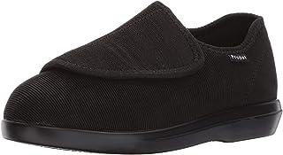 Propet Women's Cush 'N Foot Slipper, Black Corduroy, 7 Narrow