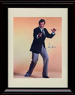 Framed Roger Moore Autograph Replica Print - Bond.James Bond 007