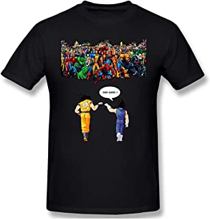 Funny T-Shirt for Avengers End Game Vs Goku and Vegeta Funny