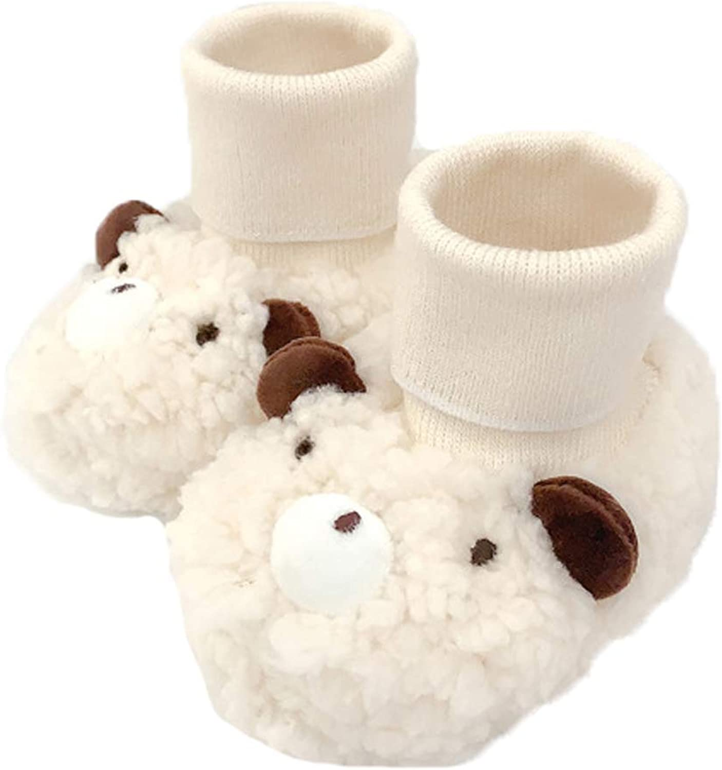 Infant Baby Cozy Fleece Socks Booties Thermal Non-Slip First Walker Crib Shoes