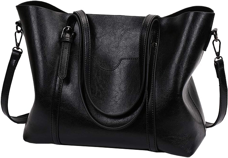 STARSSTARS Women Bag Top Handle Satchel Vintage Shoulder Bag Tote Purse Large Capacity Bags Tote Bag,Leather Purse Handbag Shoulder Bag