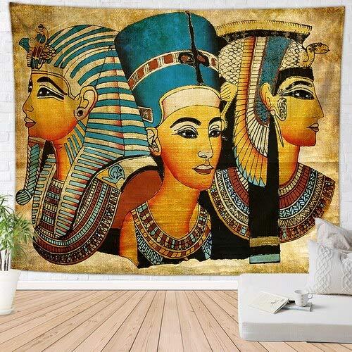 KHKJ Tapiz Decorativo Egipcio Antiguo, Alfombra Retro exótica, Dormitorio Familiar, decoración de Pared, Mural Egipcio A4, 180x200cm