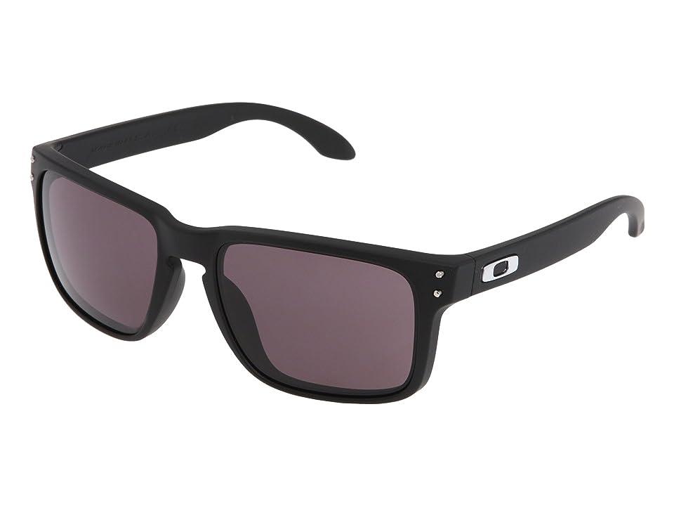 Oakley Holbrook (Matte Black/Warm Grey Lens) Sport Sunglasses