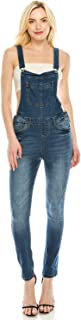 Dream Supply Women's Ripped Distressed Skinny Stretch Denim Overall