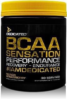 Dedicated Nutrition BCAA Sensation Workout Supplement, Mango Strawberry, 13.02 Ounce