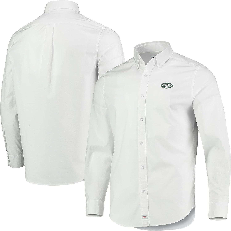 vineyard vines Men's NFL Murray Woven Long Sleeve Button-Down Shirt