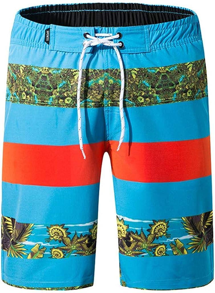 MODOQO Men's Shorts,Summer Casual Beach Swim Shorts Quick Dry Swimwear Bathing Suits