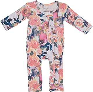 Posh Peanut One Piece Elegant Baby Romper Buttery Soft & Breathable Viscose from Bamboo - Premium Knit Baby Girl Clothes