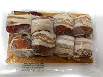 Vacuum Pack Scallop Sea Bacon Wrapped Plank Frozen