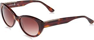 نظارات شمسية لا كولور بلوك بتصميم بيضوي للنساء من لاكوست، لون هافانا