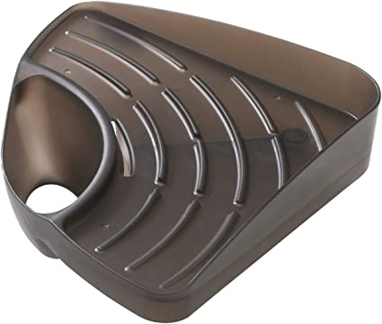 Dingdangbell Kitchen Sink Corner Storage Rack Sponge Holder Wall Mounted Brown Amazon Co Uk Kitchen Home
