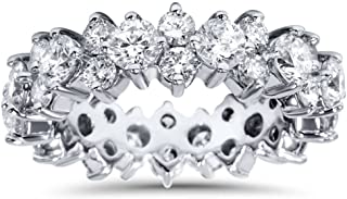 3 1/4ct Diamond Eternity Ring Band 14K White Gold