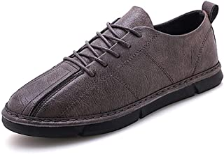 XIMINGJIA-O Athletic Shoes for Men Fashion Sports Style Microfiber Leather Light and Soft Men's Leather Shoes, Traditional Classic Design sh