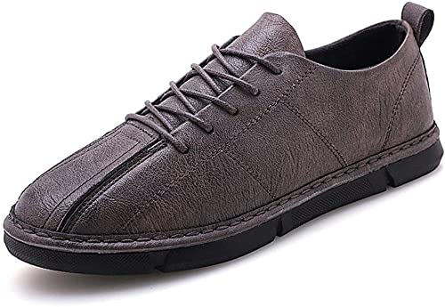 JIALUN-chaussures Chaussures de Sport pour Homme Mode Chaussures de Sport à Lacets en Microfibre Cuir Transparent et Diffuse