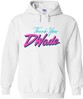 PROSPECT SHIRTS White Miami D Wade Thank You Hooded Sweatshirt