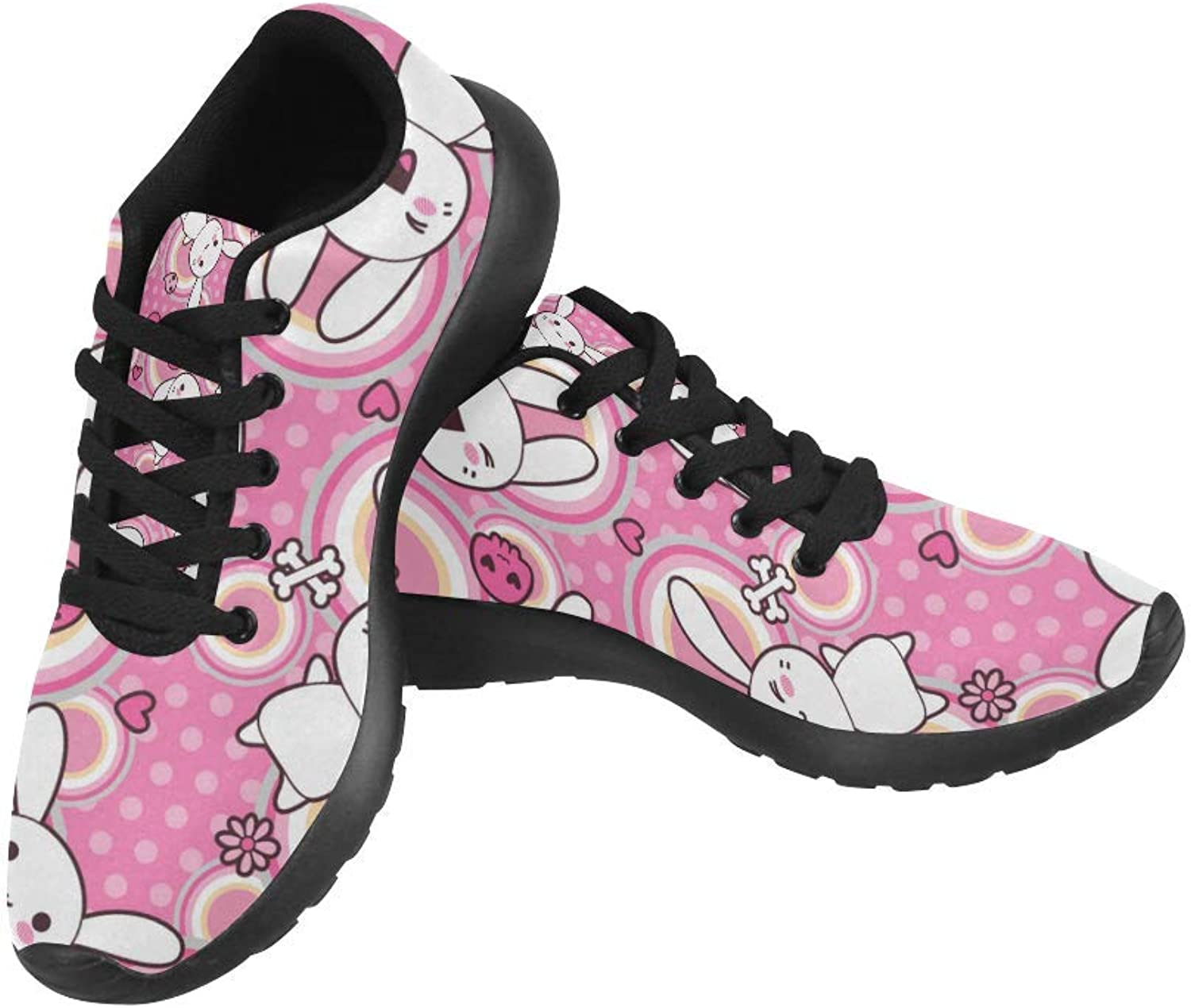 InterestPrint Kawaii Doodle Pattern Print on Women's Running shoes Casual Lightweight Athletic Sneakers US Size 6-15