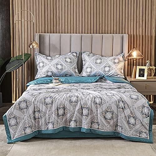 """高級シルク寝具,春の夏、柔らかい通気性のシルクの充填掛け布団 - クールまたはダブル-A_150x200cm(59""""×78"""")キルト"""