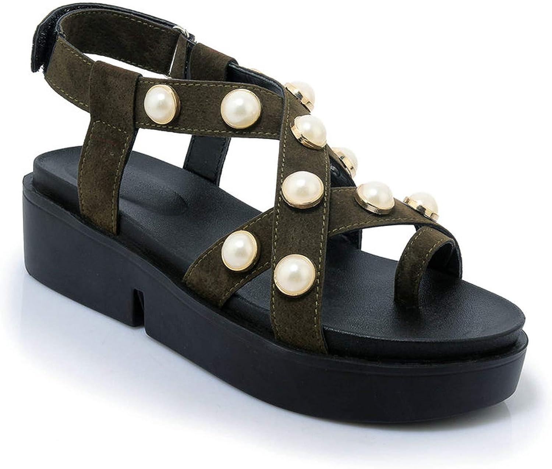 Mo Duo 2019 Leather Women Sandals shoes Platform Ladies Sneakers Open Toe High Heel Footwear