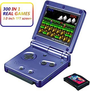 Xinguo Handheld Game Console, Portable Video Game 3 Inch HD Screen 300 Classic Games,Retro Game Console Can Play on TV, Good Gifts for Kids. (Blue)
