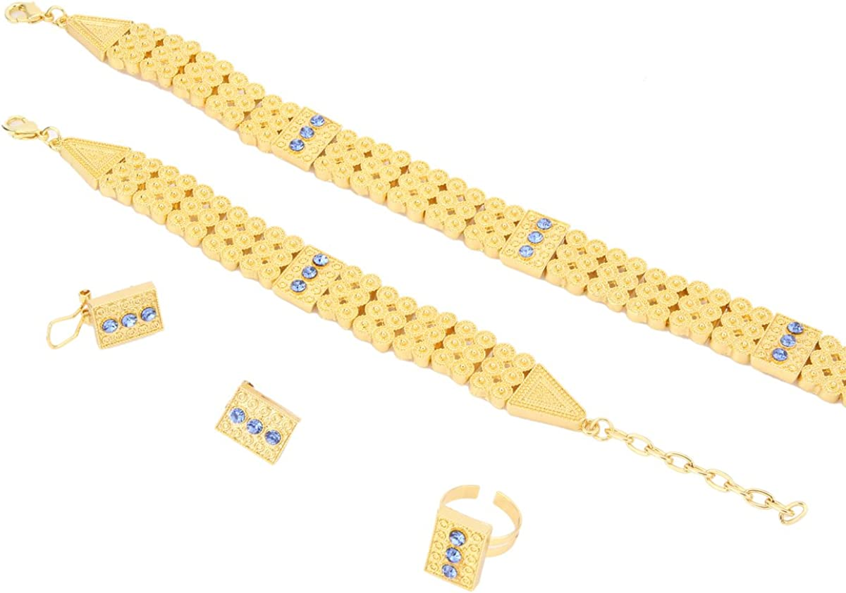 Ethiopian Set Jewelry Chokers Necklace Bracelet Earring Ring Sets Eritrea Habesha