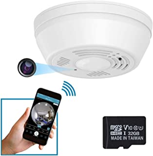 Dummy Smoke Detector 32Gb Included WiFi Motion Detection Hidden Surveillance Camera NuCam SD w. 180 Days Standby Battery &...