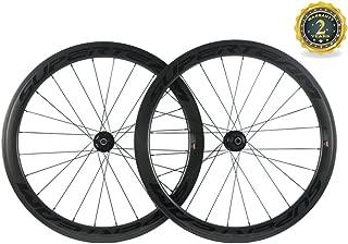 Superteam Carbon Fiber Road Disc Brake Wheelset 50mm Clincher Wheels 25mm Width