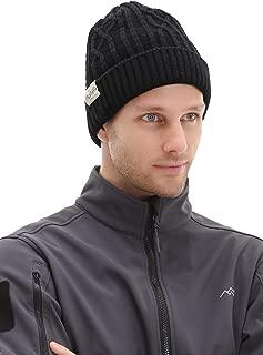 Trailside Supply Co. Outdoor Windproof Warm Warp Knitted Jacquard Hat Hood Black