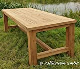 Teak GARTENTISCH Tyrion 250x100cm Teakholz antik massiv Tisch Tafel Gartenmöbel