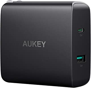 AUKEY USB C Charger with 56.5W USB C Wall Charger, One 46W Power Delivery & 5V / 2.1A Wall Charger, Compatible with MacBook, iPhone 11/11 Pro/Max, AirPods Pro, Samsung Galaxy and More