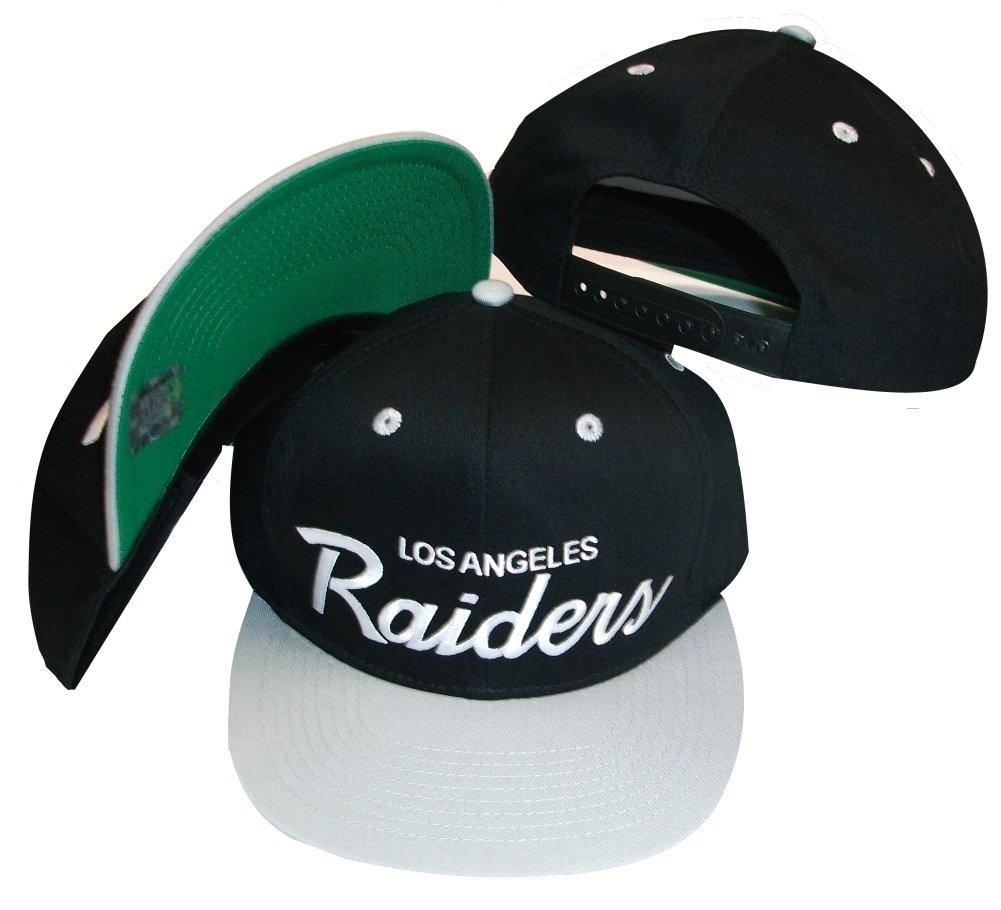 Reebok Los Angeles Raiders Negro/Plata Dos Tono plástico Snapback ...