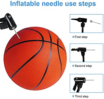 ZZYI 30 Pieces Ball Pump Needle, Premium Air Pump Needle for Balls, Inflate Needles for Ball with Storage Box
