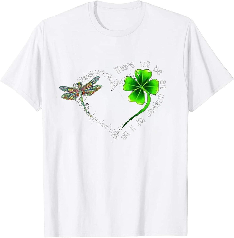 Women St Patrick's Day Shirts Cute Graphic T-Shirt Casual Short Sleeve Tee Tops Funny Irish Round Neck Tee T Shirt