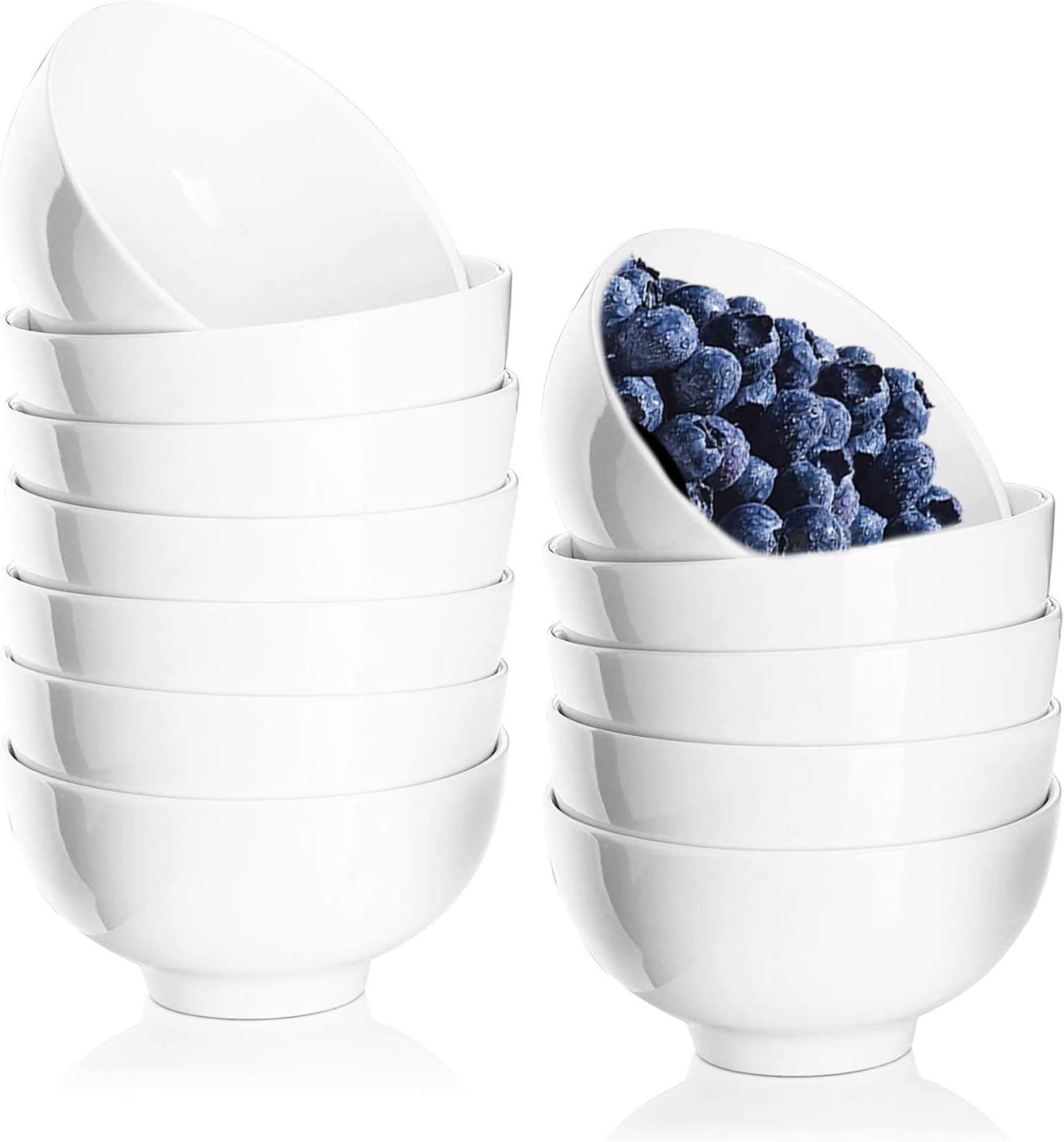 Brand Cheap Sale Venue DeeCoo 12 Pack 10 Ounces Porcelain Bowl Round Set White Bo Small Shipping included