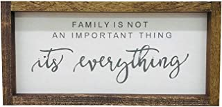 Madi Kay Designs Family is Not an Important Thing, It's Everything Farmhouse Sign Home Family Wall Decor Framed Wood Sign Inspirational 6