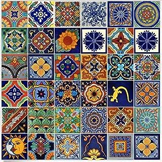 Color y Tradicion 100 Mexican Ceramic Tiles Handmade Talavera Tiles