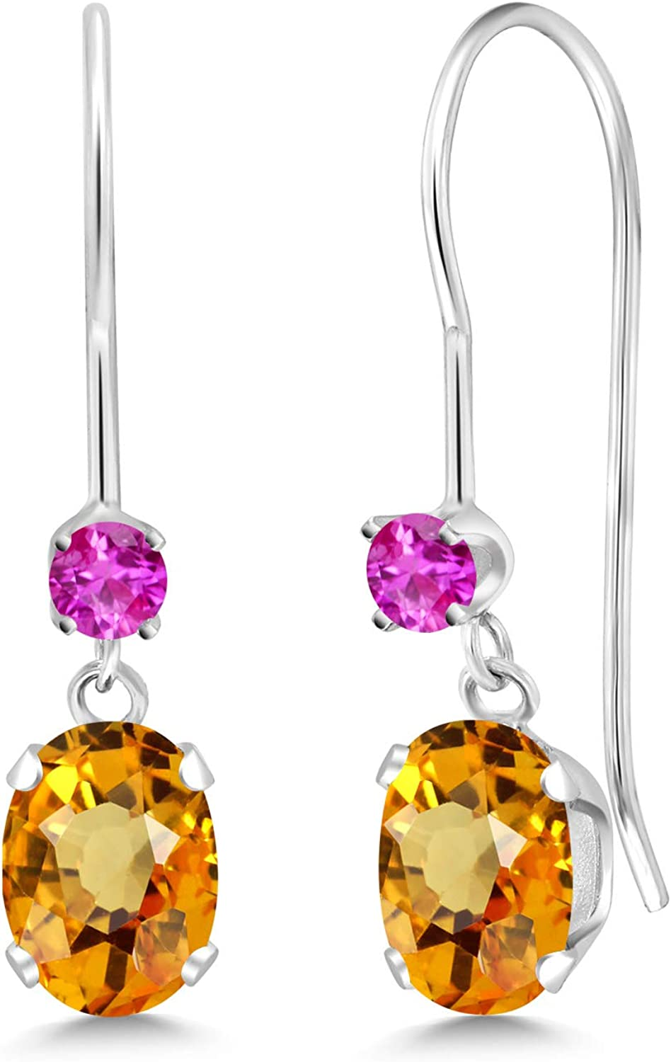 Gem quality assurance Stone King 1.30 Ranking TOP17 Ct Oval 14K Sapphire Yellow Wh Pink
