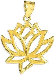Best 14k gold lotus pendant Reviews