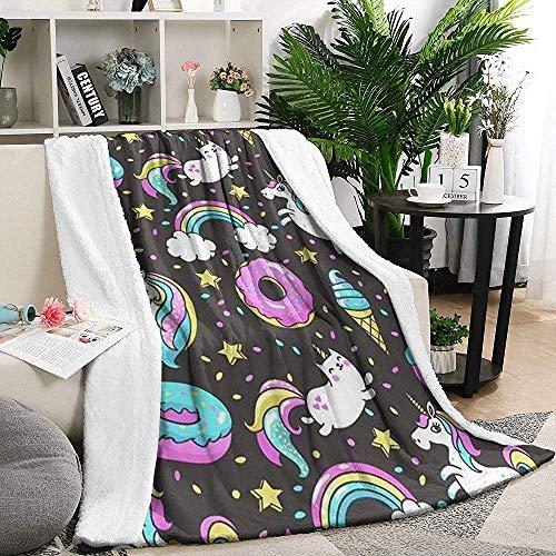 Gooi Deken Donut Eenhoorn Legging Gezellige Deken Zomer 102X127Cm Bed Warm Gooi Deken Flannel Fleece Deken Warm Thuis Bank Auto Ziekenhuis Hostel Office