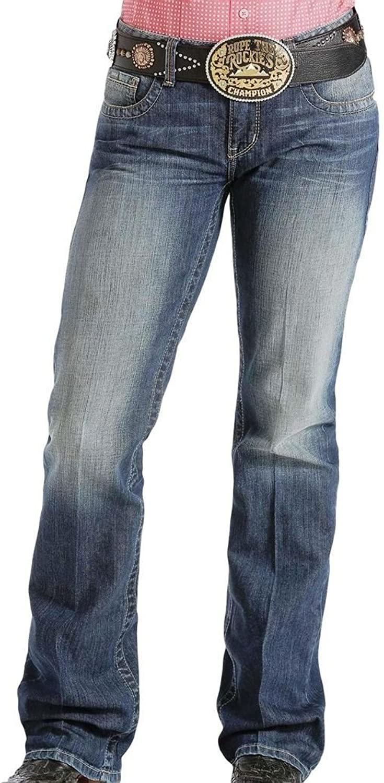 Cinch Western Jeans Womens Ada Whiskering Medium Wash MJ80252071