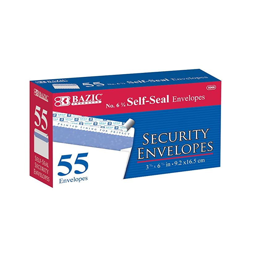 Bazic 5066 - 24 No.6.75 Peel and Seal Security Envelope - Pack of 55