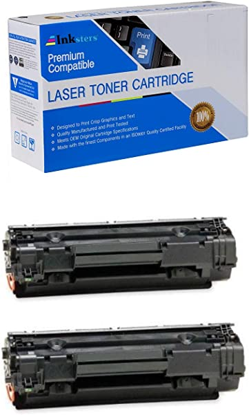 Inksters Compatible Black Toner Cartridge Replacement For HP 36A CB436A Compatible With Laserjet P1505 P1505N M1522N M1522N MFP M1522NF M1522NF MFP M1120 M1120N