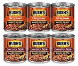 Bush's Best Baked Beans Variety Pack 8.3 Oz, 3 Original Baked Beans, 3 Country Style, 1 CT