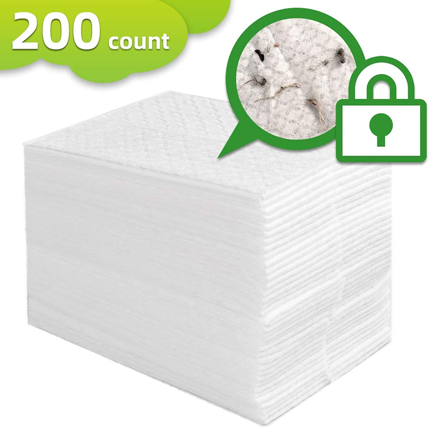 """X Home 200 Count Dry Sweeping Pad Refills Sweeper Dry Cloth Refills Flat Mop Cloths 11 x 8.6"""" Cleaning Starter Kit Static Duster Disposable Refill for Floor Hardwood Cleaning"""