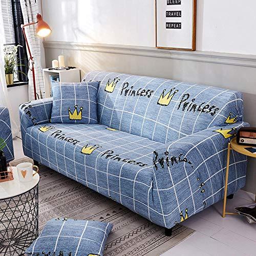 Fsogasilttlv Funda elástica para sofá 2 plazas, Funda de sofá de algodón con Estampado Floral, Funda de Toalla, Fundas de sofá para Sala de Estar Que protegen los Muebles S