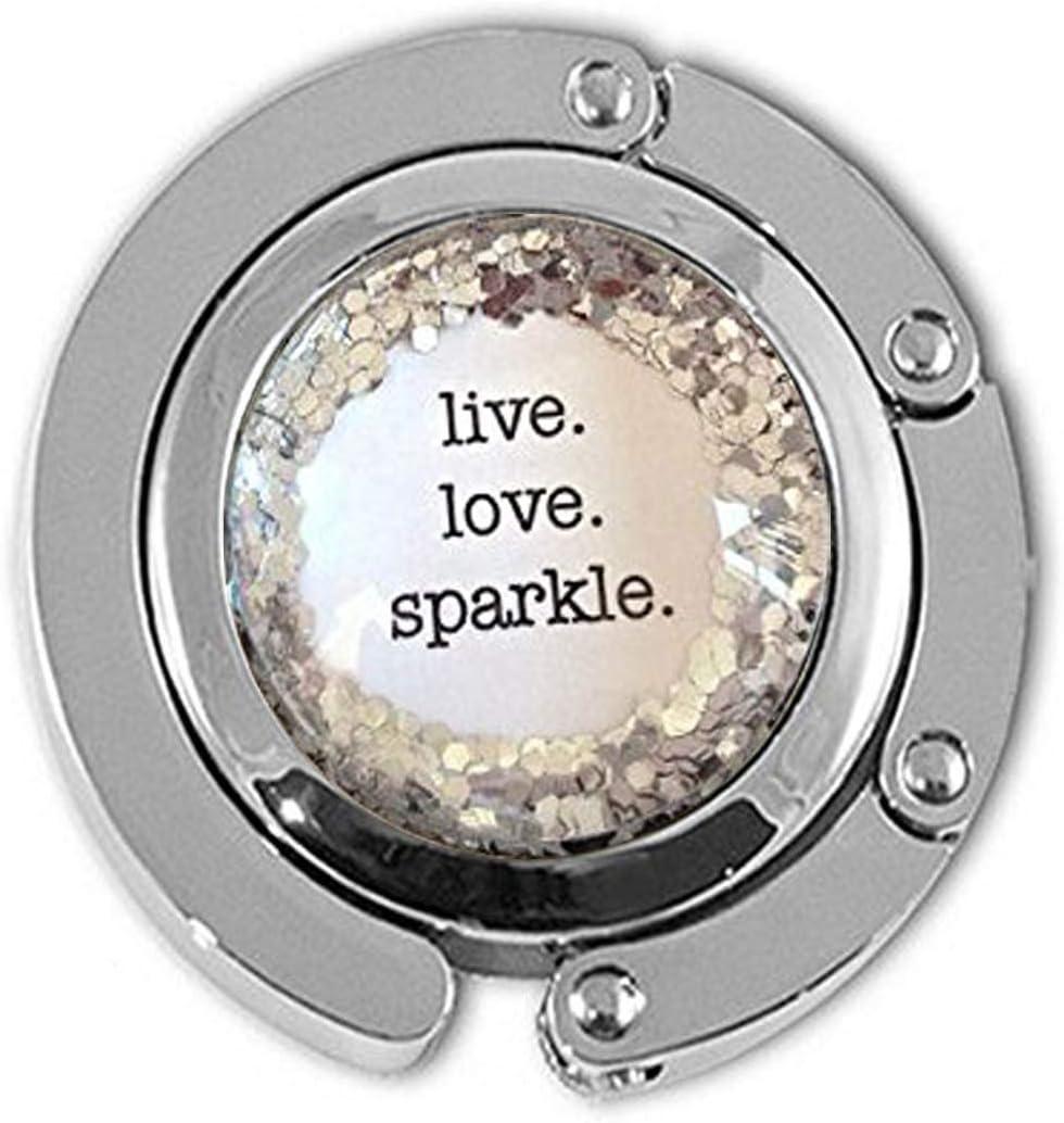 Live. Love. Sparkle. Seattle Mall Minneapolis Mall Silver glitter quote Recita necklace Dance