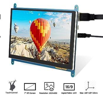"1080P IPS 60fps 3.5/"" HDMI LCD Pantalla Táctil Caja Acrílico para Raspberry Pi"