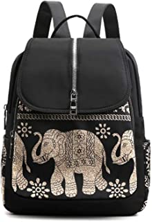 2019 Elephant Black Waterproof Nylon Anti Theft Lovely Backpack Rucksack Shoulder Bag Ladies Shoulder Bags