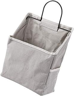 UPKOCH Hängande väskor förvaringsväska hängande arrangör för väggen dörr hängande förvaring för vardagsrum badrum grå