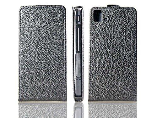 caseroxx Flip Cover für BQ Aquaris E5 LTE, Tasche (Flip Cover in schwarz)